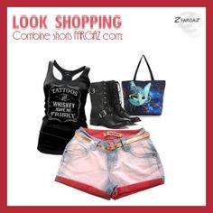 Look para ir ao shopping com shorts da fargaz