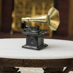 Dollhouse Miniature Victrola Record Player