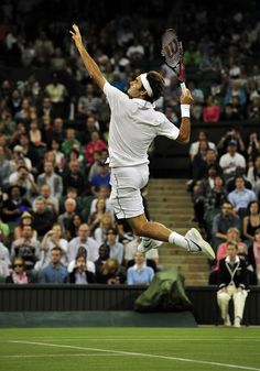 Jordon eat your heart out, Roger Federer at Wimbledon. www.socialtennisnetworking.com