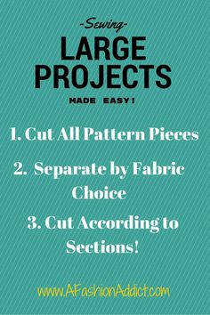 How To Large Sewing Projects