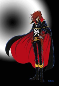 Capitan Harlock Sci Fi Anime, Mecha Anime, Robot Cartoon, Cartoon Tv, Vintage Cartoon, Vintage Tv, Nostalgia, Japanese Cartoon, Manga Games