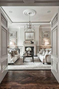 neutral white living room