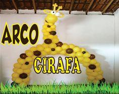 Como Fazer Arco de Balões /Girafa
