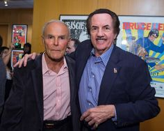 """Actor John Saxon and Bob Wall  at the 40th anniversary screening of """"Enter the Dragon"""" presented by the Academy in celebration of the new exhibition """"Kick Ass!: Kung Fu Posters from the Stephen Chin Collection"""""""