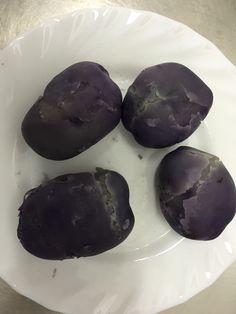Licht paarse aardappel