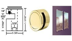 """CRL Edge Grips for 1/4"""" Material Brass Finish - Set of 4 by C.R. Laurence. $71.50. Edge Grip installation into Substrate. Available for Glass, Acrylic, Metal or Wood Panels - 1/4"""", 3/8"""" and 1/2"""" (6, 9, and 12 mm) No Drilling Required in Glass or Panel Materials Can be used on Corners and Edges of Panels This CRL Edge Grip is another component of CRL new Standoff Display System. It provides additional flexibility in attaching decorative panels or signage to walls or ..."""