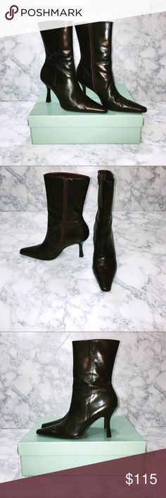 🆕🌺 Women's Gianni Bini Mid Calf Boots These Gianni Bini Mid Calf Boots are a gorgeous Rum Raisin Bahia color. The pictures don't do them justice. I have a pair of these and they are one of my favorite pairs of boots! They are in EUC. The style name is Joely and I have the original box. Thank you for stopping by my closet. Please let me know if you have any questions. :-) GM Gianni Bini Shoes Heeled Boots #midcalfboots