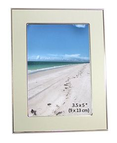 Brushed Satin Silver Color  Shiny Aluminum Photo Picture Frame  Landscape or Portrait  Photo Size 35 x 5 Inches 9 x 13cm -- Details can be found by clicking on the image.