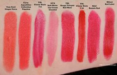 2013 Favorite Spring Bright Lipstick Swatches!