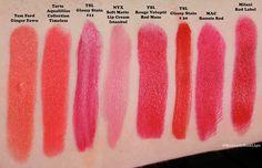 2013 Favorite Spring Bright Lipstick Swatches!
