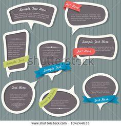 Speech bubbles in vintage style. Vector set by A-R-T, via ShutterStock