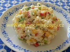 Barevný rýžový salát Bon Appetit, A Table, Potato Salad, Healthy Snacks, Food And Drink, Rice, Cooking Recipes, Lunch, Pizza