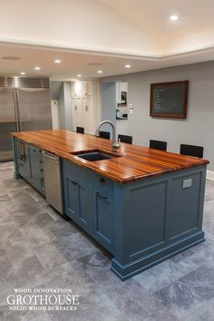Custom Tigerwood Countertop Crafted For A Large Kitchen Island In West  Chester, Pennsylvania, Sealed With Durata® Waterproof Permanent Wood Finish