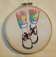 Colors Feet, Embroidery de EmbroideryHoopTienda en Etsy