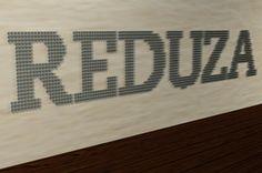 tipografia institucional sustentável para projeto reduza, da vale.