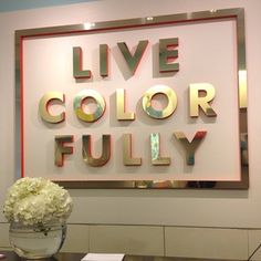 {RE-CREATE THIS ART PIECE} DIY Gold letters at Kate Spade.