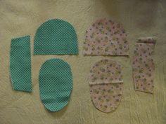 Nua Maked: reversível Tecido do bebê Tutorial Calçados