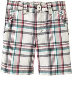 Plaid Canvas Shorts for Baby | Old Navy