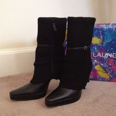 """BNIB Chinese Laundry Sweater Boots New Sweater boots with skinny belt detail by Chinese Laundry. Approx 4.5"""" heel, color: black, zipper closure Chinese Laundry Shoes"""