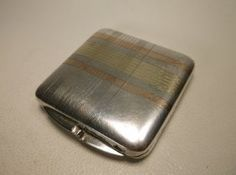 Heavy Antique Sterling Silver Compact