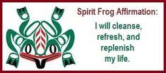 Animal Spirit Guide Frog Affirmation balancedwomensblog.com