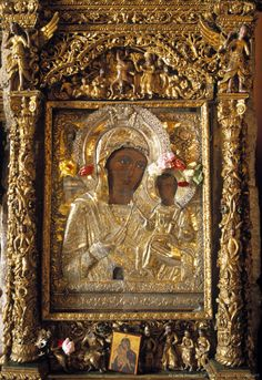 Icon of the Virgin & Child  -  in the Church of St. Lazarus (Ayios Lazaros Church) Larnaca, Cyprus
