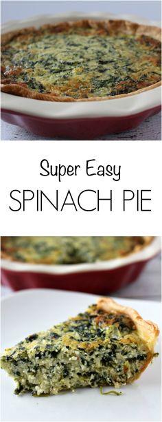 Spinach Pie - super easy to make