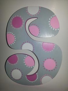Custom Crafted Polka Dots Wooden Letters by paintInsidethelines, $10.00