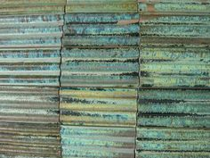 wonderful copper patinas, shades of blues and greens