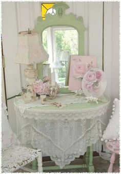 .love the pink and green