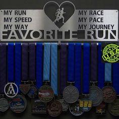 Favorite Run My Race MY Pace Medal Display