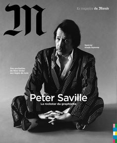 "Oliver Hadlee Pearch on Instagram: ""La Rockstar Peter Saville For @m_magazine  Thanks to fab team @emimikareh @janeenwitherspoonmakeup @jabezbartlett #petersmith…"" Peter Saville, Illustration Artists, Graphic Illustration, Peter Smith, Graphic Design Posters, Graphic Designers, Editorial Design, Thankful, Typography"