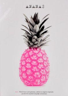 Tendance ananas pour cet été 2017 ! Craquez vite pour le tableau ANANAS Rose/Gris/Noir disponible sur BUT.fr