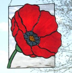 Stained Glass Poppy from Ladybug stained glass                                                                                                                                                      Más