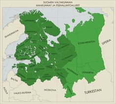 Really stupid old project I managed to get done. Backstory goes like Axis wins, Germany falls in a nuclear war, Finland grabs all the Finno-Ugric lands . Greater is Underestimating