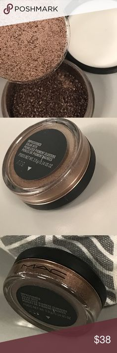 MAC Impassioned Solar Bits pigment LE DC new Style Warrior collection, DC LE. Insanely foil shimmery chocolate bronze. New, no box. MAC Cosmetics Makeup Eyeshadow