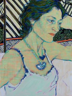 Jane (2015), acrylic on canvas on panel by Hope Gangloff (b. 1974), American (artofdarkness)