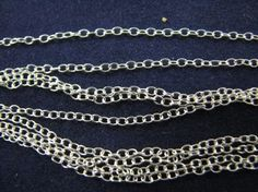 10 feet Sterling Silver 1.3mm Cable Chain bulk on spool unfinished