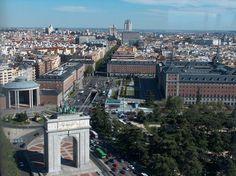 Vista aérea de Moncloa en Madrid
