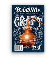 Drink Me Magazine cover lettering by Joel Felix