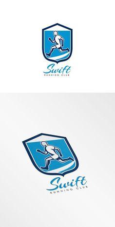 Swift Running Club Logo by patrimonio on @creativemarket
