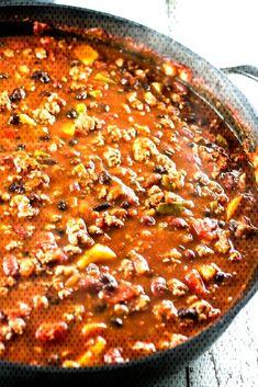 The Best Turkey Chili Ever! - Olivia's Cuisine - The Best Turkey Chili Ever! Chilli Recipes, Turkey Recipes, Soup Recipes, Healthy Recipes, Turkey Dishes, Potato Recipes, Healthy Foods, Vegetarian Recipes, Dinner Recipes