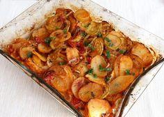 Pečená cukina so zemiakmi a zeleninou - recept