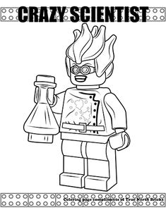 Crazy Scientist coloring page