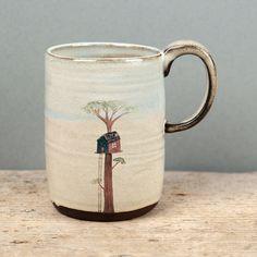Julia Smith - Tree House Mug, ceramic Pottery Mugs, Ceramic Pottery, Pottery Art, Pretty Mugs, Cute Mugs, Pottery Painting, Ceramic Painting, Pottery Designs, Mug Designs