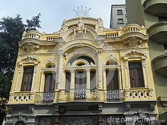 Eclectic building richly ornamented in São Paulo old downtown.