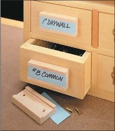 I've built several storage cabinets with a number of drawers to help organize small pieces of hardware and other items. The pro...
