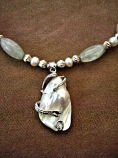 Unique OOAK MOP Baroque Pearl White Gold Pendant Necklace Hand Beaded with  Pearls, Silver, White Quartz Beads via Etsy