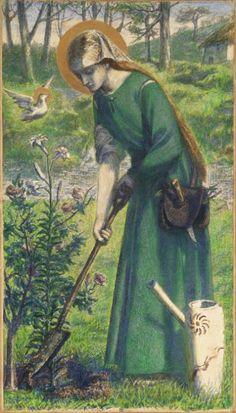 1857.'Mary Nazarene', Dante Gabriel Rossetti,Tate