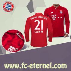 fc-eternel:Maillot Bayern Munich Manche Longue LAHM 21 Domicile 16/17 Maillot Bayern Munich, Lewandowski, Football, Sweatshirts, Sports, Sweaters, Tops, Baby Born, Long Dress Patterns